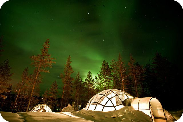 Stay in an igloo and watch the northern lights in Finland