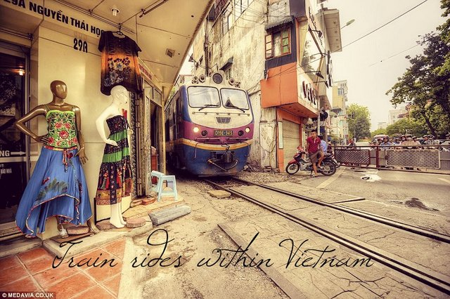 Train rides in Vietnam