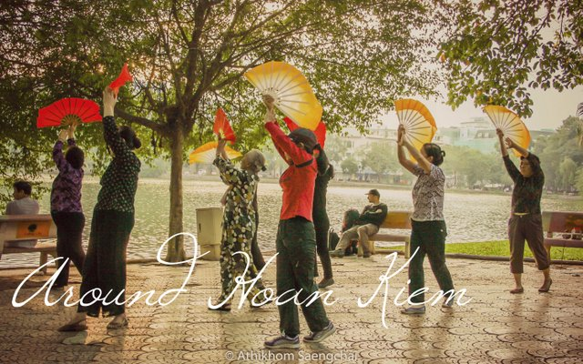 Activities around Hoan Kiem Lake, Vietnam